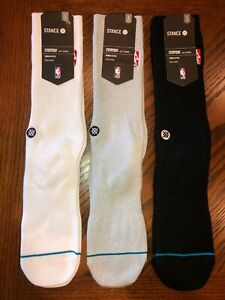 NEW Stance NBA Logo Premium Crew Socks 1 Pair - Men Size Large 9-12