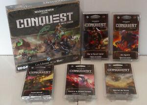 Lot Warhammer 40k CONQUEST Extension et 5 Paquets de guerre NEUF
