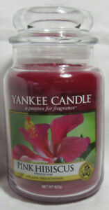 Yankee Candle Large Jar Candle 110-150 hrs 22 oz PINK HIBISCUS floral extracts