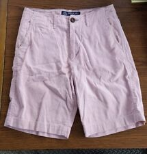 Men's American Eagle Outfitters Classic Fit  Red/White Striped Shorts Size 28
