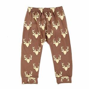 Christmas Baby Kids Fall Winter Warm Pants Cotton Leggings Soft Harem Trousers