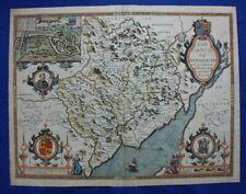 Original antique atlas map, MONMOUTHSHIRE, MONMOUTH, John Speed, 1612-27