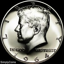 1964 Kennedy Half Dollar 90% Silver ~ Gem Proof Uncirculated ~ Us Coin