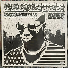 K-DEF - GANGSTER INSTRUMENTALS (VINYL LP)  2016!!  RARE!!!  REAL LIVE!!!  SEALED