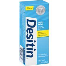 Desitin Rapid Relief Zinc Oxide Diaper Rash Cream 4 oz (Pack of 2)