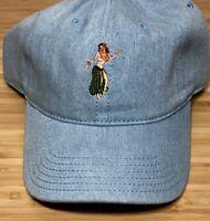 Goodfellow & Co Hawaiian Hula Dancer Aloha Hawaii Blue Baseball Hat Strapback