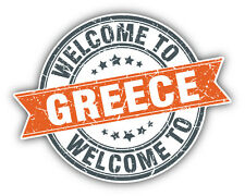 Greece Grunge Welcome Stamp Car Bumper Sticker Decal 5'' x 4''