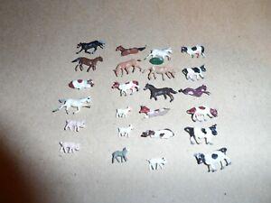 N SCALE FARM ANIMALS LOT OF 24 PCS.
