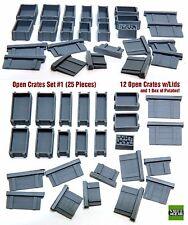 1/35 Universal Open Wood Crates w/Lids  #OC1- Value Gear Details - 25pcs Resin