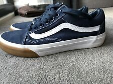 Vans Old School Skool Gum Bumper Navy Blue Size 6 UK6