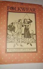 Vintage FOLKWEAR Pattern #235 Sporty Forties Dress & Sweater fits sizes 6-16