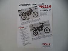 advertising Pubblicità 1983 MOTO VILLA 125 MC/250 MC
