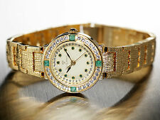 Gold Plated Band Women's Brushed Wristwatches