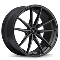 18x8 KONIG OVERSTEER 5x114.3 +35 Gloss Black Wheels (Set of 4)