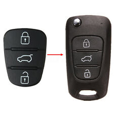 3 Boutons Coque Case Clé Télécommande Flip Caoutchouc Pour Hyundai I10 I20 I30