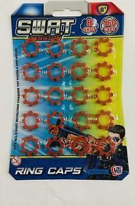 Plastic Ring Caps Gun Pellet Bullet Super Disc 160 Shots Toy Cap Gun