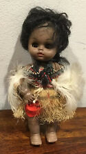 Adorable Vintage Vinyl And Hard Plastic Maori Doll