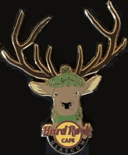 Hard Rock Cafe GLASGOW 2015 Stag Deer Head with Antlers & Tartan PIN HRC #86737