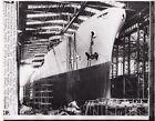 Original Press Photo USS NAVY TANKER MISSISSINAWA 1954 Christened Launched 723Original Period Items - 586