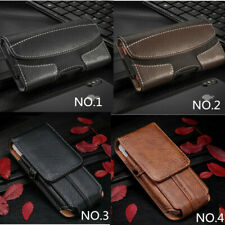 Luxury Waist Belt Holster Pouch Pocket Card Wallet Bag Leather Phone Case Cover