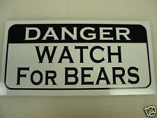 DANGER WATCH FOR BEARS Metal Sign for Golf Club Ball Hunting Vintage Style GLBT