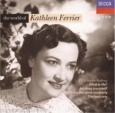 KATHLEEN FERRIER - The World Of Kathleen Ferrier (West German 19 Tk CD Album)