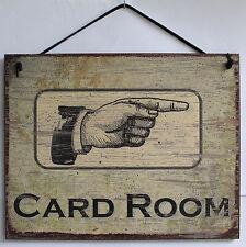 Card Room Poker Sign Black Jack Bar Tavern 21 Vegas Reno Dice Deck Texas Hold'em