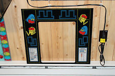 BRAND NEW Namco PAC MAN Arcade Machine BEZEL Screen Print - High Impact Plexi