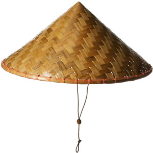 Coolie Hat Chinese Costume Conical Rice Farmer Sun Japanese Asian Bell Halloween