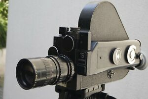PATHE ELECTRONIC 16 mm.Caméra entièrement révisée par professionnel en Mai 2021.