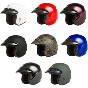 2021 Gmax OF-2 Open Face Street Motorcycle Helmet - Pick Size & Color