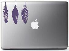 "Native American Bird Feathers - Purple Vinyl Decal for 13"" Macbook"