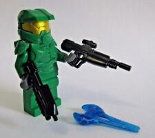 Lego Custom HALO MASTER CHIEF Spartan Minifigure -GREEN- + BrickArms Rifles