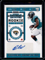 Ryquell Armstead 2019 Panini Contenders Rookie Ticket RC Auto #163 Jaguars