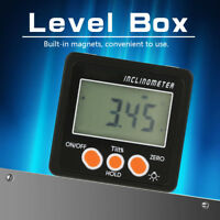 360 ˚ Digital Magnetic Protractor Inclinometer Electronic Level Box Angle Gauge