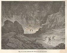 A2085 La caverna del Mammuth nel Kentuchy - Xilografia del 1895 - Engraving