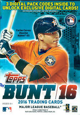 2016 Topps BUNT Baseball Series Unopened Box of Packs 3 EXCLUSIVE Digital Cards