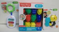 Fisher Price 3 Baby Toys Xylo Rattle, Snap Lock Beads, Bee Teether NEW
