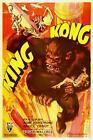 "KING KONG Vintage movie poster fay wray #1 CANVAS ART PRINT 8"" X 12"""