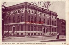 1912 SPRINGFIELD, MASS. NEW HOME OF THE NAYASSET CLUB, West State Street