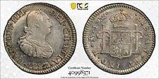 1793-Mo FM Mexico City Silver 1/2 Real PCGS AU58 Calico-275 Charles IIII