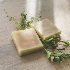 100%Natural Handmade Green tea & Blue Clay soap bar, Vitamin E and Shea butter