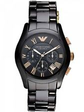 Brand New Emporio Armani AR1410 Men's Valente Ceramica Chronograph Watch