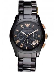 Brand New Emporio Armani AR1410 Men's Valente Ceramica Chronograph Watch