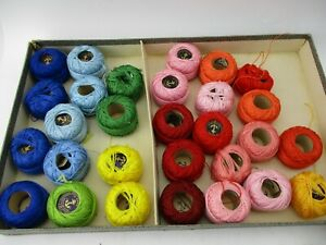 28 Clarks Anchor Pearl Perle Cotton Embroidery Needlework Balls Thread Floss