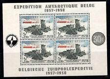 Belgio 1957 Mi. Bl. 25 Foglietto 100% Nuovo ** spedizione al polo sud, cani