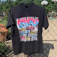 Vintage Chicago T Shirt Large Single Stitch Fruit Of The Loom 80s 90s Graffiti