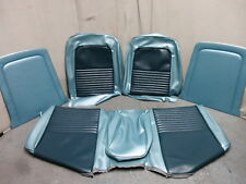 67 Mustang Standard Front Bench Seat Upholstery Reproduction Blue