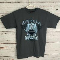 Harley Davidson Mens sz M Gray Shirt Newmarket England HD Motorcycle