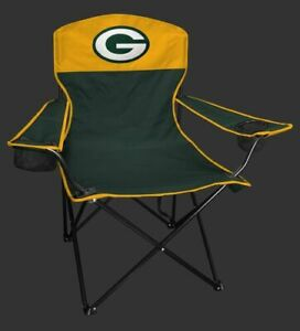GREEN BAY PACKERS LINEMAN Quad Folding Chair [NEW] NFL Travel Tailgate